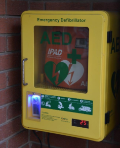 Little Witley Defibrillator located in the Village Hall